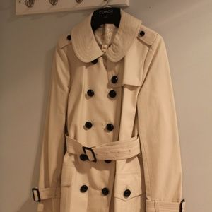 Coach Trench coat Parchment 80647 MFSRP NWT